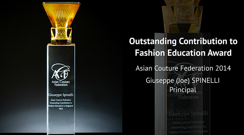 Outstanding Contribution to Fashion Education Award Asian Couture Federation 2014 Giuseppe(Joe) SPIN